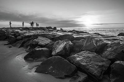 Photograph - Sunrise On The Rocks by Kristopher Schoenleber