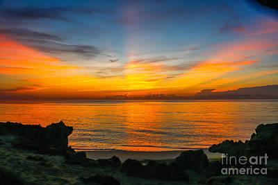 Sunrise On The Rocks Art Print