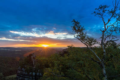 Photograph - Sunrise On The Schrammsteine by Andreas Levi