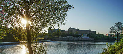 Sunrise On The Schuylkill River - Philadelphia Art Museum Art Print by Bill Cannon