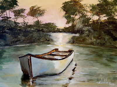 Painting - Sunrise On The Shallows by Alan Lakin