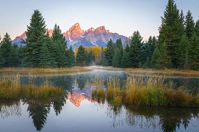 Teton Photograph - Sunrise On The Snake River by James Udall