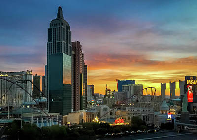 Photograph - Sunrise On The Strip - Las Vegas, Nevada by Debra Martz