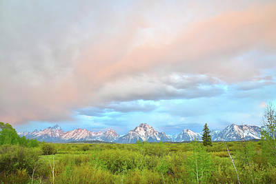 Photograph - Sunrise On The Tetons And Mt. Moran by Ray Mathis