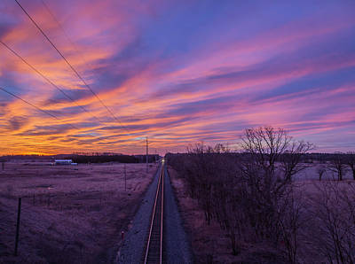 Photograph - Sunrise On The Train Tracks 3-24-2018 by Thomas Young
