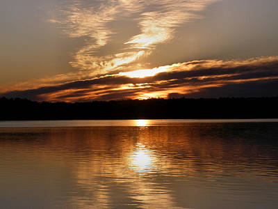 Sunrise On The Turtle Flambeau Flowage Art Print