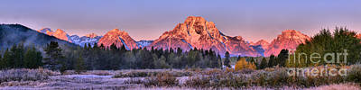 Photograph - Sunrise On The Way To Oxbow Bend by Adam Jewell