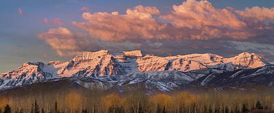 Photograph - Sunrise On Timpanogos by TL Mair