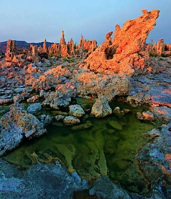 Sunrise On Tufa 2 Art Print by Sean Sarsfield