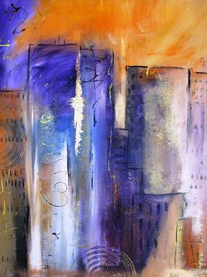 Painting - Sunrise On Twin Towers by Gary Smith