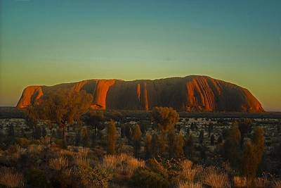 Photograph - Sunrise  On Uluru by NaturesPix