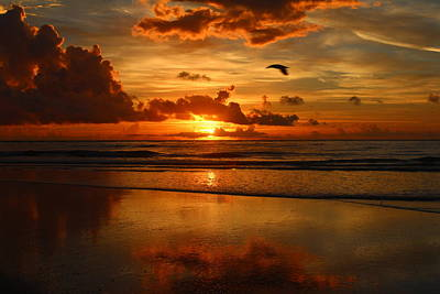 Photograph - Sunrise On Vilano Beach by Sean Sowell