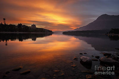 Photograph - Waterton Sunrise by Dennis Hedberg