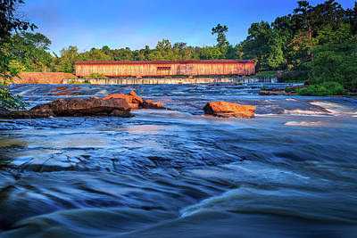 Photograph - Sunrise On Watson Mill Bridge by Doug Camara