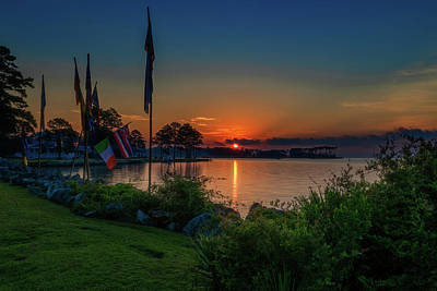 Photograph - Sunrise On The Neuse 3 by Cindy Lark Hartman