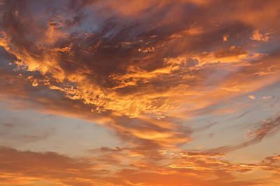 Photograph - Sunrise Orange Sky, Willamette National Forest, Oregon by Robert Mutch