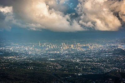 Photograph - Sunrise Over A Cloudy Brisbane by Parker Cunningham