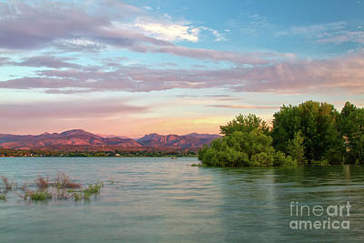 Photograph - Sunrise Over A Colorado Lake  by Ronda Kimbrow