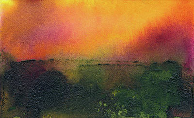 Painting - Sunrise Over A Marsh by Mary Elizabeth Thompson
