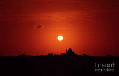 Sunrise Over A Small Town Art Print by Stephan Grixti