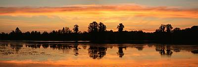 Photograph - Sunrise Over Alligator Lake Panoramic by rd Erickson
