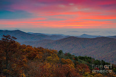 Photograph - Sunrise Over Blue Ridge Parkway. by Itai Minovitz