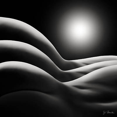 Female Nude Digital Art - Sunrise Over Bodywaves by Joe Bonita