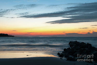 Photograph - Sunrise Over Breach Inlet In Charleston Sc by Dale Powell