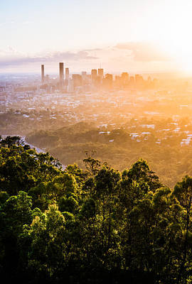 Sunrise Over Brisbane Art Print