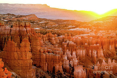 Photograph - Sunrise Over Bryce Canyon by Benjamin Wiedmann