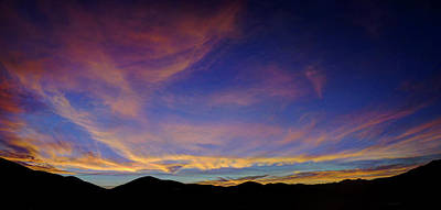Photograph - Sunrise Over Canyon Hills by Richard Stephen