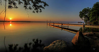 Dock Photograph - Sunrise Over Cayuga Lake by Everet Regal