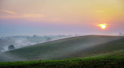 Photograph - Sunrise Over Central Kentucky by Alexey Stiop