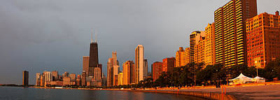 Chicago Skyline Photograph - Sunrise Over Chicago by Adam Romanowicz