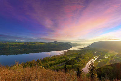 Photograph - Sunrise Over Columbia River Gorge by David Gn