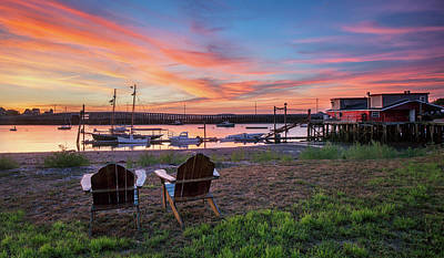 Photograph - Sunrise Over Cook's Lobster House by Darylann Leonard Photography