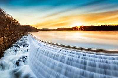 Photograph - Sunrise Over Croton Dam Ny by Mihai Andritoiu