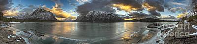 Sunrise Over Deep Emerald Ice Art Print by Royce Howland