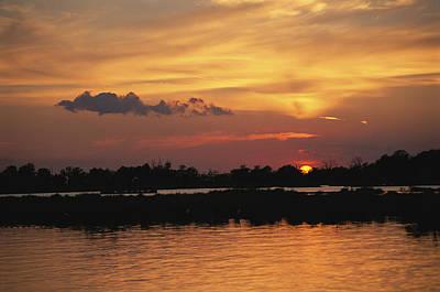 Louisiana Sunrise Photograph - Sunrise Over Delacroix Island by Medford Taylor
