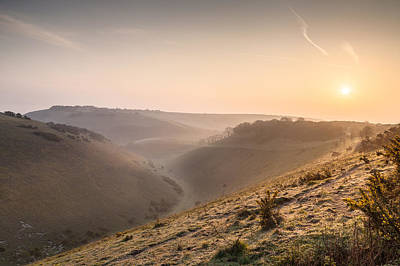 Photograph - Sunrise Over Devils Dyke by Stuart Gennery
