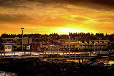 Photograph - Downtown Edmonds Sunrise by Michael McAuliffe