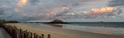 Photograph - Sunrise Over Fort National, Brittany by Shirley Mitchell