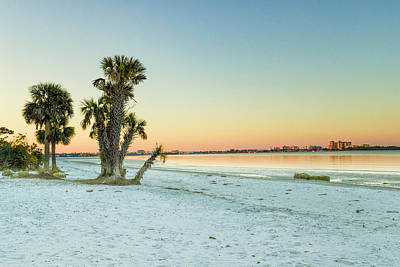 Photograph - Sunrise Over Ft Myers Beach by Fran Gallogly