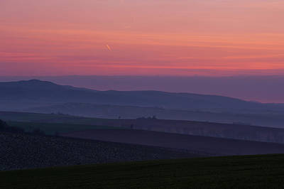 Photograph - Sunrise Over Hills Of Moravian Tuscany by Jenny Rainbow