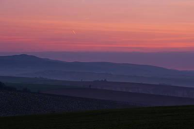 Sunrise Over Hills Of Moravian Tuscany Art Print