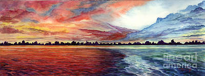 Painting - Sunrise Over Indian Lake by Nancy Cupp
