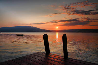 Note Card Photograph - Sunrise Over Keuka IIi by Steven Ainsworth