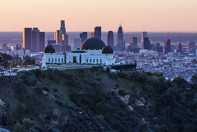 Sunrise Over La And Griffith Observatory Art Print by John McGraw