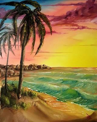 Hati Painting - Sunrise Over Labadee, Hati by Ray Hansen
