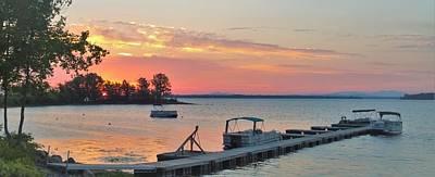Photograph - Sunrise Over Lake Champlain by Lisa Dunn